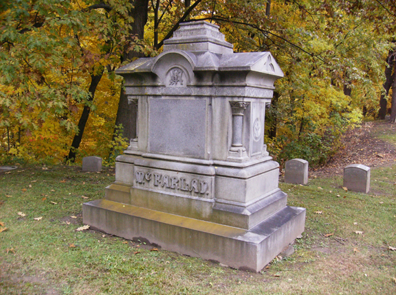 The McFarlan burial plot at Glenwood Cemetery is the final resting place of three generations of the McFarlan family.